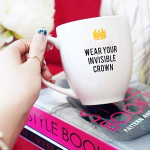 We are all princesses and our crowns can come in many shapes and forms. Mine contains hot chocolatey goodness. 😁  What makes you feel Royal? 👑  Thank you @acupofquotes for this cute and very motivational mug! 😽  Quote 'BLOGANDCOFFEE' to receive free shipping when you order from ACupOfQuotes.com.  Have fun! #clozette #newmug #acupofquotes
