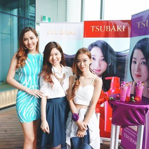 Today's agenda: Make new friends! 👯👯 Meet @missamandaleong and @denisesoongeelyn whom I met at today's @tsubaki_sg product launch. It was lovely chatting with you beautiful ladies! Catch up again soon! 😘 Also, thank you #tsubaki for having us!  I'll be sharing more about their new hair products soon so please stick around! 😉 #clozette #bbloggers