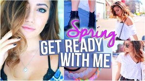 Spring 2015 // Makeup, Hair & Outfit Ideas For Spring - YouTube
