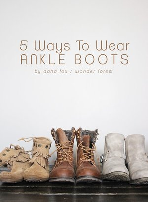 I'm personally a slouchy socks kind of girl. Check out the article here: http://www.thewonderforest.com/2014/08/how-to-wear-ankle-boots-5-ways.html