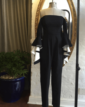 gavinrajah#atelier #designerdiaries #fashion Bustier #offshoulder #jumpsuit in production #monochromatic #gavinrajah #beautiful #luxury #craftsmanship #madebyhandFollow us on:  http://www.grconcept.com/