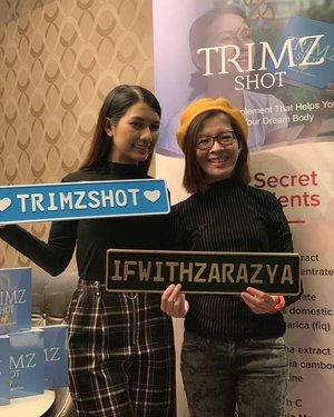 At recent M&G with ZaraZya, introducing her new slimming supplement product Trimz Shot. During M&G, she shared her secret for looking young and maintain her figure by