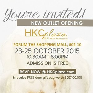 [Event] Come join me for the New HKC Plaza Skin Aesthetic Outlet Opening, happening from 23-25 Oct 2015! RSVP now and receive $100 worth of goodies!  Link to RSVP: http://www.hkcplaza.com/Official-Opening-HKC-Plaza-Skin-Aesthetic-Forum-The-Shopping-Mall I will be there on 24 Oct morning, see you there! #hkcplaza #histolab #histolift #kbeauty #koreanbeauty #beauty #clozette #event #bblogger #aestheticssg