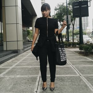 All-black ensemble for #BloggerBabesAsiaMNL last weekend.