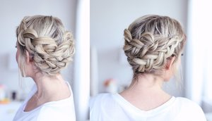 Braided Crown Tutorial for Medium Length Hair - YouTube