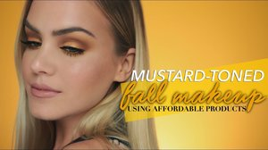 Glowy, Mustard-Toned Fall Makeup - YouTube