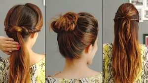 3 Quick And Easy Hairstyles For Greasy Hair - YouTube