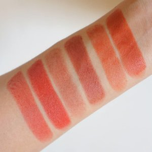 Swatches for reference: MAC Powder Kiss Lipstick in Devoted to Chili -  ColourPop Velvet Blur Lux Lipstick in CA Love -  Moonshot Honey Coverlet Stick Extreme Lipstick in Baked Burn ❤️ LINK:  https://majvalencia.com/2019/05/12/colourpop-ca-love-blur-lux-lipstick-review-swatch/ . . . . . #photoaday . . . . . #makeup #makeupph #maccosmeticsph #maccosmetics #macpowderkiss #colourpop #colourpopcult #colourpopcalove #colourpopph #moonshotcosmetics #kbeauty #lipstick #makeupswatches #makeupinmanila #clozette