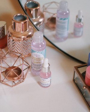 @beautybakeryco  glass skin on rotation this week!  It smells like cotton candy and le huzband loves it! 🍬🍭🍬🍭 #Day2 of my #photoaday challenge 🍰 . . . . . . . . . .  #beautybakery #thebeautybakery #skincare #skincareph #beauty #beautyph #beautyblogger #glassskin #acneprone #sensitiveskin #rosegold #makeupvanity #makeuptable #makeupinmanila #clozette