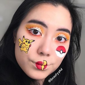{Gotta catch them all}  Full transparency - I accidentally smeared a bit of white on my pokeball so I edited it out. Does anyone have that issue when they do makeup art?  I'm not a lip artist so forgive my failed attempt at a lightning bolt, but hey, gotta show some maiden attempts on this page! _____ 🐱Brows🐱  @anastasiabeverlyhills brow powder duo  @benefitcosmeticssg gimme brow   🦊Eyes🦊  @plouise_makeup_academy base in rumor 02 as base and to cut crease @morphebrushes James Charles palette @inglot_cosmetics AMC gel liner in 76 @kpalette_sg one day tattoo real strong eyeliner @thrivecausemetics liquid lash extension mascara  🦁Face Drawings & Lips🦁  K palette eyeliner @inglot_usa AMC gel liner in 76 and 84 @jeffreestarcosmetics Velour liquid lipstick in queen bee, redrum @urbandecaycosmetics all nighter concealer to concealer lips 🐯Face🐯  @hourglasscosmetics vanish stick foundation in porcelain @makeuprevolutionusa conceal and define in C2 @rcmamakeup no color powder  _____ #clozette #sgmua #nycmua #blazin_beauties #undiscovered_muas #socute #kawaii #makeuplook #lookoftheday #pokemon #gottacatchthemall #anastasiabeverlyhills #benefitcosmetics #inglotcosmetics #jeffreestarcosmetics #unleashyourinnerartist #hourglasscosmetics #urbandecay #morphebrushes #cutcrease #lipart #makeupart #creativemakeup #geekygirls #geeky