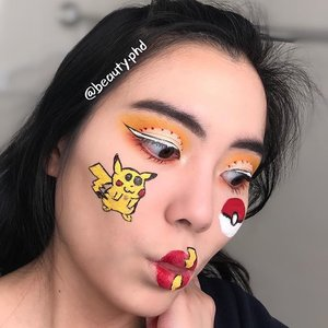 {When you spot a rare Pokémon}  Do you know that the term Pokémon is short for the romanized Japanese word 'pocket monsters'??  Enjoy my silly face! I wanted something that fit the theme.  Also, I'm feeling some artist burnt out. Does that ever happen to you fellow content creators? Especially art creators? _____  🐱Brows🐱  @anastasiabeverlyhills brow powder duo  @benefitcosmeticssg gimme brow   🦊Eyes🦊  @plouise_makeup_academy base in rumor 02 as base and to cut crease @morphebrushes James Charles palette @inglot_cosmetics AMC gel liner in 76 @kpalette_sg one day tattoo real strong eyeliner @thrivecausemetics liquid lash extension mascara  🦁Face Drawings & Lips🦁  K palette eyeliner @inglot_usa AMC gel liner in 76 and 84 @jeffreestarcosmetics Velour liquid lipstick in queen bee, redrum @urbandecaycosmetics all nighter concealer to concealer lips   🐯Face🐯  @hourglasscosmetics vanish stick foundation in porcelain @makeuprevolutionusa conceal and define in C2 @rcmamakeup no color powder  _____  #clozette #sgmua #nycmua #aspiringmua #undiscovered_muas #blazin_beauties #kawaii #pokemon #geeky #funnyfaces #makeupselfie #creativemakeup #facepainting #wakeupandmakeup #makeuplover #igsg #inglotcosmetics #jeffreestarcosmetics #anastasiabeverlyhills #benefitcosmetics #unleashyourinnerartist #plouise #cutcrease #lipart