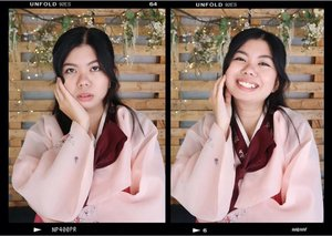 🌸🐰 #clozette #ootd #beauty #selfie #hanbok #korean #koreanmakeup