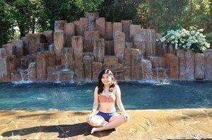 Early morning dip 🌞 #clozette #ootd #summer #summeroutfit #bikini #swimwear