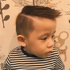 my three year old nephew killin' this haircut ✂️