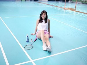 Taking #FitNRightActive to all my workouts to help me #Reduce2xMoreFat and rehydrate me at the same time! 🏸 #Badminton #WerqItGirl #clozette 📷: @denisebvillanueva 😘