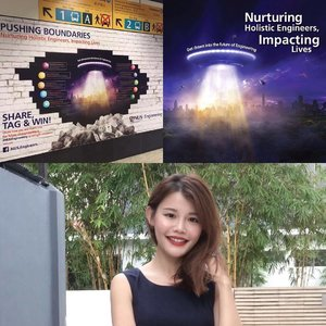 Wanna win $200 gift vouchers?i want!! . Simply take a photo at Tan Kah Kee station with the iconic NUS Engineering Spaceship that has just landed, upload the picture to your Facebook or Instagram with #NUSEngineering and you may walk away with vouchers worth $200. Contest ends on 31st July. Good luck! #sgcontest