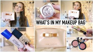 What's In My Makeup Bag 2015 ♡ Travel Makeup Essentials | Hannah Renée - YouTube