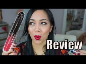NEW Rimmel Show Off Lip Velvet Lip Lacquer first impression review - itsjudytime - YouTube