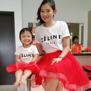 We wish Everyone a  Happy blessed chinese new year ! 👧👧🍊 We're both dressed @tullelove_by_gwen  Celine ins Top and made to measure tulle !Alyssa is so love with this set and want to wear before CNY ! 😁😁 May it be filled with Joy!  #clozette #sgmummy