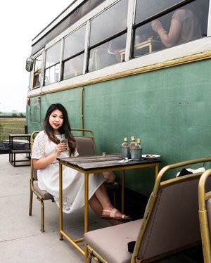 Missing those little staycation we went! This is in Sekinchan a little cafe build inside a bus extended with a platform facing the golden paddy field! . . . #travelgram #igtravel #instatravel #instago #malaysiatravel #clozette