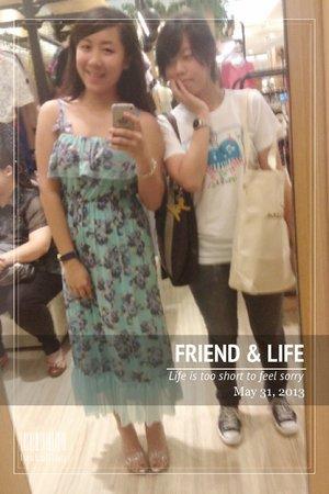 known each other since 13...time flies flora blue dressglass sandals