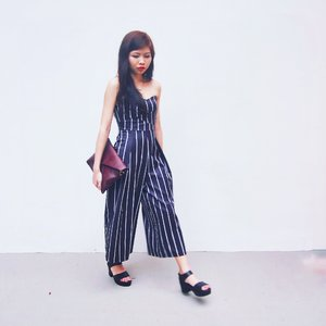Yet another monochrome outfit. Rocking my stripes game for Chinese New Year day 2