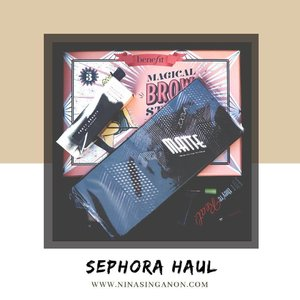 NEW on www.NINASINGANON.com: @SephoraPH Haul . Check out what I got from Sephora Philippines for my birthday (which was back in December but I only had the time to open it up now lol!) ❤ Direct link on my profile! #SephoraPH #NinaSinganonDotCom #NinaBlog2018