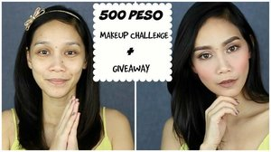 FINALLY did the 500 peso makeup challenge! I hope you like this. Please see LINK in my bio 😉✌🏼️ #clozette #makeupjunkie #makeuplove #500pesos #500pesomakeupchallenge #makeupchallenge #pinay #pinayyoutuber #youtuber #beautyguru #beautyenthusiast #bblogger #bbloggersph