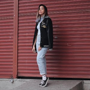 Varsity blues 💙❤️ #WhatGelaWore #ClozettePhoto by: @salgadopaolo :*
