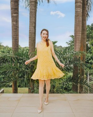A cheery start of the week with @joopboutique yellow dress! 💛 this design is so dainty & airy (can hide tummy!), I love it hahah! This dress will be launched on weds BTW. . ✨ Meanwhile, check out with promo code  for a $10 OFF with $60 purchase online at www.jovet.com.sg! Valid now till 6th Feb 2019! ✨ . On a side note, feeling so grateful that I can finally take a lil breather from my hectic schedule this week! 🤗 #clozette