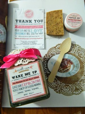 Organic & natural goodies that I recently got from Earth Care Soaps #bodyscrub #lipscrub #organic #natural