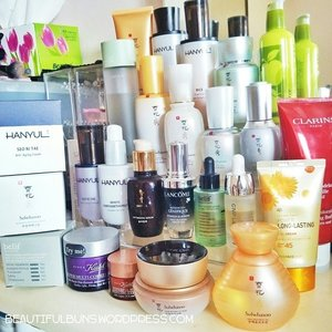 My dresser is being overtaken by my skincare products! Hohoho. Time to get a bigger dresser perhaps?