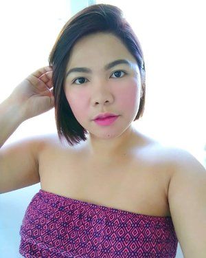 Updating my feed with a selfie because of the new hair. Thanks @salonprivea. Haha!  #clozette #qingsstyle #selfie #bloggerph #pampangabasedfashionblogger