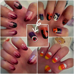 TGIF!!!! It's Halloween next week! Like these Halloween nail art designs? Check out my blog for a full tutorail on how to create each one!