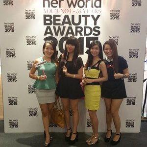 Had a great time at the Her World Beauty Award ♡