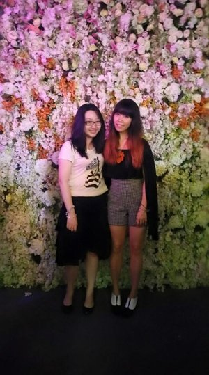 My bestie & I from the SGFW Victoria Beckham Show