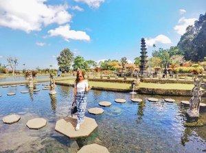 Beautiful water palace,  In the good summer days,  Sometimes we like a chalice,  To pour away the bad days . . . . #tirtagangga #waterpalace #lifeofapostgradstudent #bali #balilife #balivibes #balitravel #karangasem #goasean #travelasia #allitravel #travelgram #travelstoke #wanderlust #travelholic #goingplaces #exploremore #clozette #goprolife #gopronation #goproeverything #goprotravel #gopro #throwback #360bali
