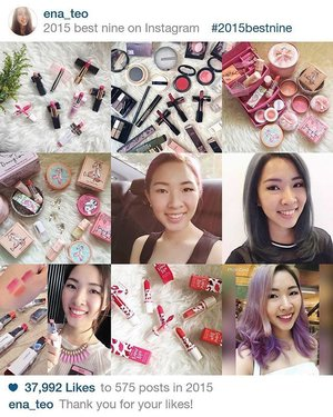 My #2015bestnine of makeup & selfies with changing hair colours! 💄💅🏻👩🏻📸 Thanks for the likes in 2015, let's welcome a better 2016! 🤗💖💕 #clozette #herworldplusSMA