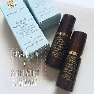 Been a while since my last giveaway. This time I'm giving away 2 Estée Lauder ANR Eye Serum samples, c/o Estée Lauder SG. I've been using this day & night & loving it! 😊💕 To take part, simply 1. Follow me on IG & FB  2. Tag 1 friend on this post  optional (cause I wanna know): let me know what kind of giveaways you would like in future: food voucher, clothes, beauty?  To double your chances, take part on both IG (@ena_teo) & Facebook (www.facebook.com/enabalista)  Giveaway is open internationally, winners will be picked at random and results will be announced on this same post on IG and FB on Wednesday. :) #GoodLuck!☺️✌️ #enabalista #esteelauder #anr #eyeserum #skincare #giveaway #clozette