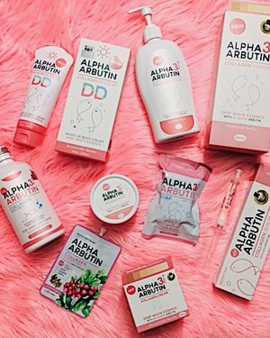 my whole collection of alpha arbutin skincare ✨