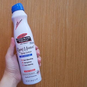 #JuneunicornGiveaway x #PalmersSG - The convenience of applying #BodyLotion in a few sprays! With RapidSorb Technology, @Palmers #Palmers Rapid Moisture Spray Lotion (Cocoa Butter & Shea Butter Formula with Vitamin E) is fast absorbing, non-greasy, non-staining and provides 24 hours of deep moisturizing for your skin.  How to #WINsg? 1) Follow @Palmers_SG & @Juneunicorn on Instagram. 2) Like this post. 3) Mention 3 friends in the Comment section. One friend per comment. 4) *Extra Chance* Go to my Juneunicorn - Caren Foo Facebook page for another chance to #sgWIN. 5) *Another Extra Chance* Subscribe to my Caren Foo YouTube channel: http://bit.ly/CarenYouTube  #ContestSG ends this Saturday, 19 October 2018, 2359pm. *Terms & Conditions apply. This #GiveawaySG is only for those in #Singapore #SingaporeGiveaway. Good Luck! 🙂  #Clozette #Beauty #Skincare #Bodycare #BodycareSG #SgBodycare #SkincareSG #SkincareSingapore #SgSkincare #SingaporeSkincare