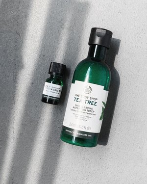 Today, I am especially thankful for the Tea Tree anti-blemish products that came with their modeling rubber mask media drop from @thebodyshopsg c/o @wom_sgpr recently. I was just complaining about the sudden appearance of the pimple I had on my forehead last night on my IG stories. This morning I woke up to a much less inflamed and protruding spot. The only difference I made to my standard routine is layering the Skin Clearing Mattifying Toner and Tea Tree Oil. They aren't miracle products, but they are anti-inflammatory and anti-bacterial that worked intensively when coupled with my AHA (to me at least!). This combination may be really drying for some skin types, but for me, it is quite alright and I am happy to do it on myself. . Seriously, don't you guys just love Tea Tree Oil? —— #TheBodyShop #TheBodyShopSG #TheBodyShopTeaTreeOil #TeaTreePower #AntiBlemishHero #Clozette #Skincare #SponsoredProduct