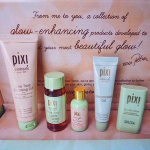 Introducing #PixiGlowStory @pixibeauty 's Glow Collection. It's a complete skin care set to enhance that glow from within. The 5 products from the line are: Glow Tonic Cleansing Gel, Glow Tonic Toner, Glow Tonic Serum, pHenomenal Gel and On-the-Glow Moisturizing Stick. 🥰 Most of the products use Glycolic Acid and Aloe Vera as their main ingredients. Looking forward to a glowing skin, I sure need it! 😂 @pixibeautyph #pixibeauty #yellowyum #msyellowyum #beauty #beautyph #beautyblogger #beautybloggerph #bblogger #bbloggerph #manilablogger #lifestyle #lifestyleblogger #pinayvlogger #blogger #bloggerph #youtube #youtuber #youtuberph #vlogger #vloggerph #clozette
