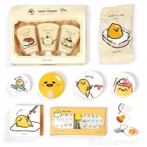 [3rd to the last flatlay] Whaaat we're down to 3?! For the last 3, I thought about things that make me excited. . . Gudetama always excites me! I'm among of the millions of people who think that a melancholic egg with a fluffy butt is our spirit animal. Always a pleasure to see Gudetama merch, and I'm so happy @holikaholika_official decided to release so many collaboration goods.🥚🥚🥚 . . As for me, I guess it's because I love eggs so much (???). I know I'm supposed to give up eggs to keep my cholesterol down but I just can't. 🍳🍳🍳#gudetama #ぐでたま  #holikaholikagudetama #구데타마 #holikaholika