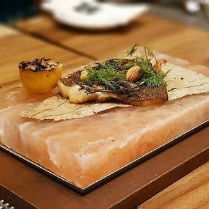 Grilled Orange Roughy served on a slab of Himalayan rock salt.  #clozette #foodspotting #iweeklyfood #fooddaddict #foodgasm #foodpic #sginsta #sgeats #foodshare #nomnom #igersgs #foodporn #yummy #foodsg #burpple #sgfood #sgfoodbloggers #sgfoodies #igsgfoodies #kualalumpur #klfoodie #seafood
