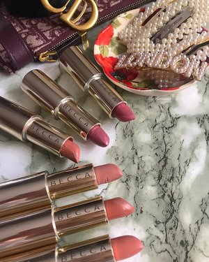 I use @beccacosmetics Ultimate Lipstick Love so often that mine have become worryingly soft and may break soon. Will place them in the fridge for a day or 2. Shades (top-bottom):- Sorbet Petal Dusk Sugar Cupid's Kiss Yours Truly . . . . . . . . . . #MyRomana #MyRomanaBECCA #clozette #makeupcollection #beautycommunity #instamakeup #makeuplover #beccacosmetics #sephora #sephoramy
