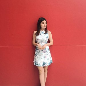 wearing cheongsam because i'm chinese. 🤭🍊💫