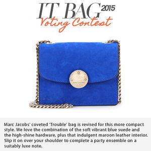 MARC JACOBS | Mini Trouble Suede Shoulder Bag