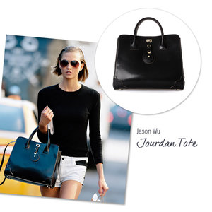 Karlie Kloss with the Jason Wu Jourdan Tote