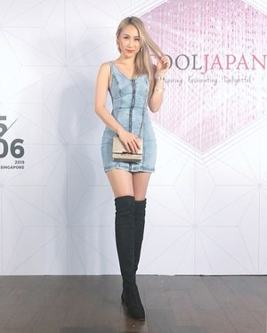 #OOTD during #CoolJapan Launch Party by @clozetteco and Cool Japan Fund.  Thanks for having me and my friend 😊 📸 by @lyzpopz  #ladies_journal #clozette #tgif #clozetteid #denim #asiangirls #fashion #beauty